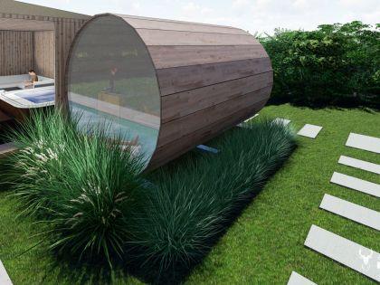 vakantiehuis met zwembad, sauna en jacuzzi in Durbuy