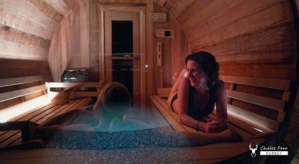 wellness chalet faro durbuy by night zwembad, sauna en jacuzzi